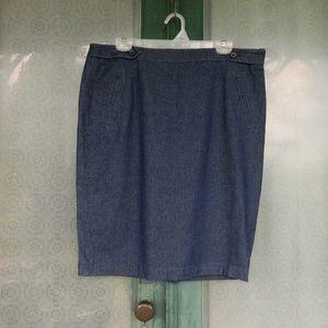 DownEast Slim Denim Skirt